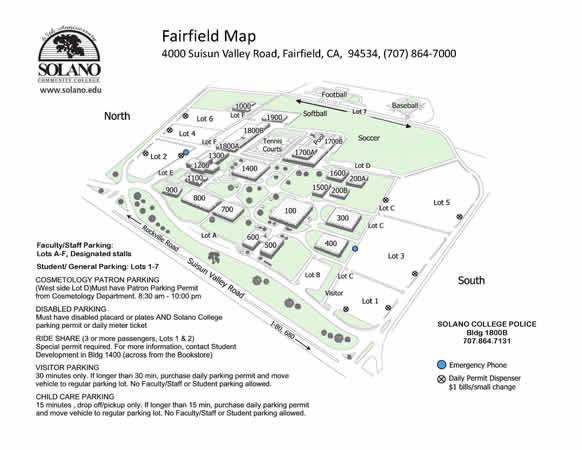 solano college campus map Fairfield Locations Solano Community College